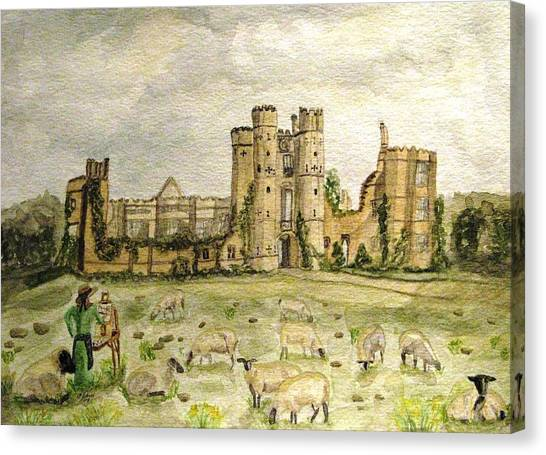 Plein Air Painting At Cowdray House Sussex Canvas Print