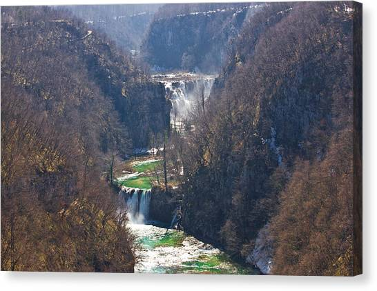 Plitvice Lakes National Park Canyon Canvas Print