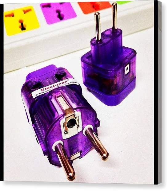 Backpacks Canvas Print - #plug_adapter For #korea And #bali by Dejavu Petch