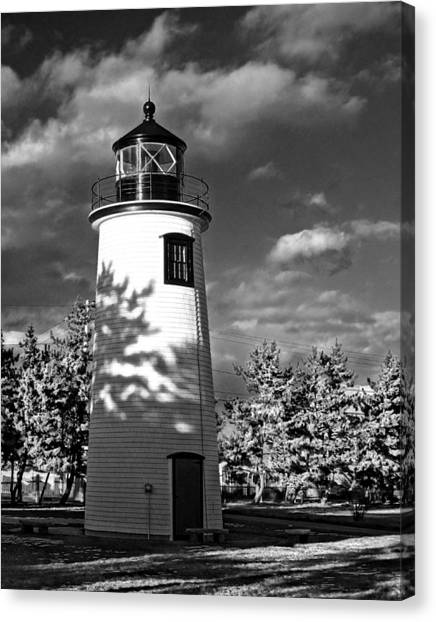 Plum Island Light 01 Canvas Print