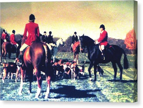 Plum Run Hunt Opening Day Canvas Print