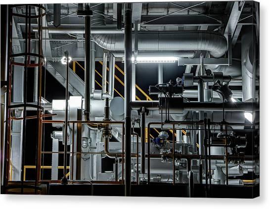 Industrial Canvas Print - Plumbing by Tomoshi Hara