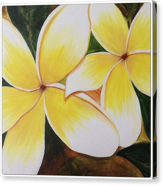 Florals Canvas Print - Plumeria by Go Inspire Beauty