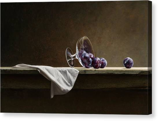 Plums Canvas Print by Mark Van crombrugge