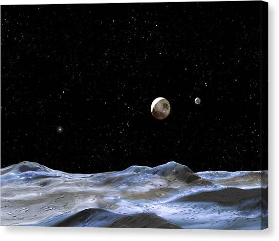 Pluto Canvas Print - Pluto by Nasa/esa/stsci/g.bacon/science Photo Library
