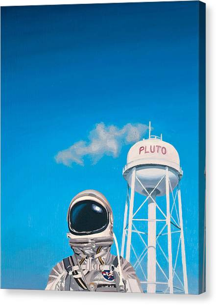 Science Fiction Canvas Print - Pluto by Scott Listfield