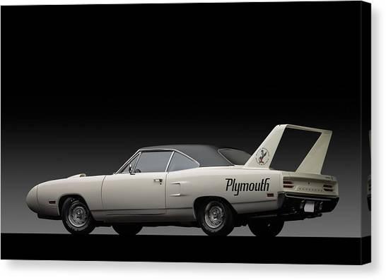 Roadrunner Canvas Print - Plymouth Road Runner 70' by Scott Cummings