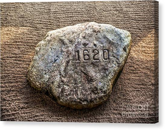 Pilgrims Canvas Print - Plymouth Rock by Diane Diederich