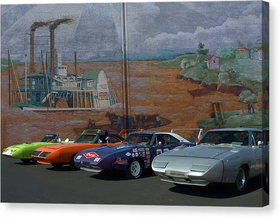 Plymouth Superbirds And Dodge  Daytonas Canvas Print