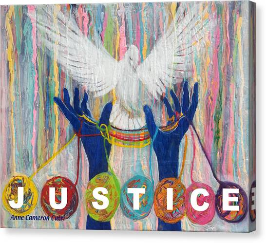 Pms 20 Justice Canvas Print by Anne Cameron Cutri