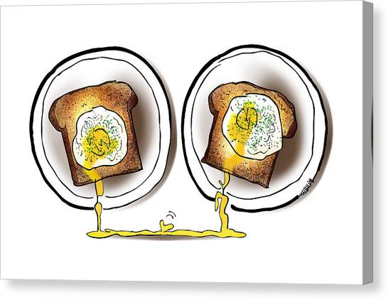 Poached Egg Love Canvas Print