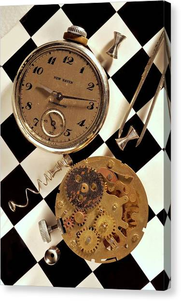 Pocket Watch Macro Number 2 Canvas Print by John B Poisson