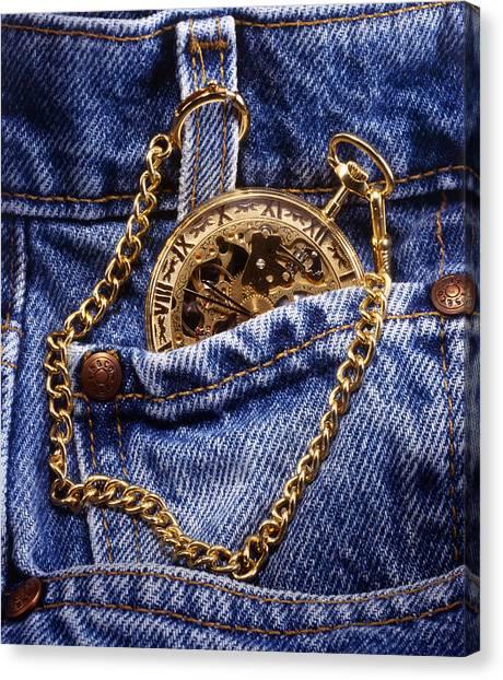 Pocket Watch Canvas Print