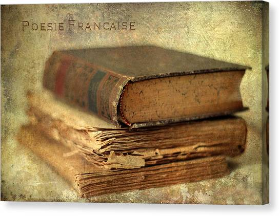 Timeworn Canvas Print - Poesie Francaise by Jessica Jenney