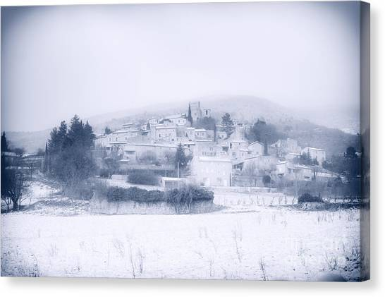 Poet-laval In Snow  Canvas Print
