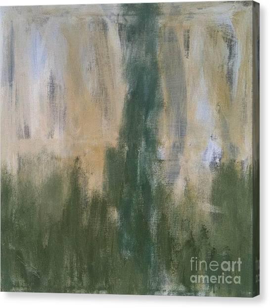 Poetry In Green Canvas Print by Bebe Brookman