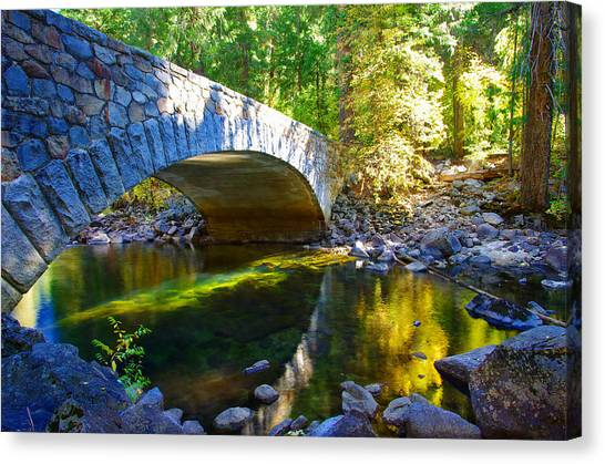 Pohono Bridge Yosemite National Park Canvas Print