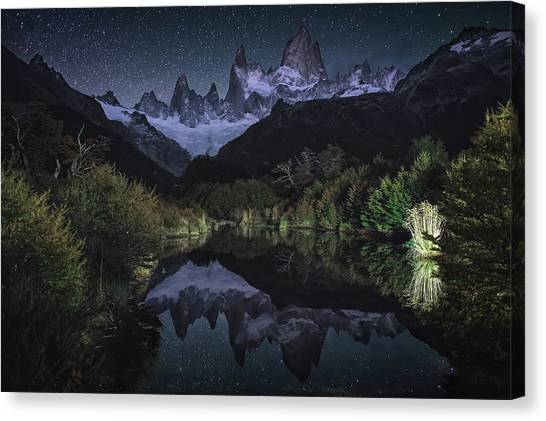 Mountain Ranges Canvas Print - Poincenot by Adhemar Duro