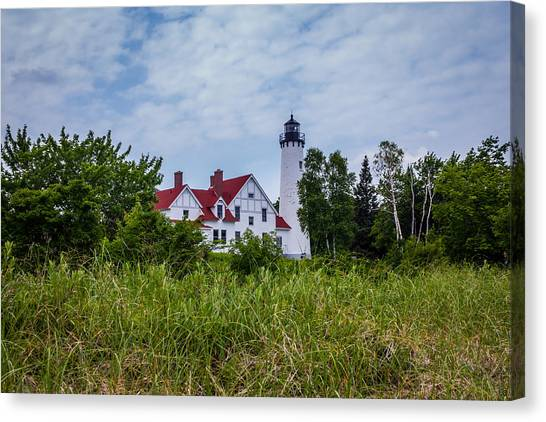 Point Iroquois Lighthouse Canvas Print