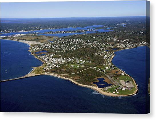 Point Judith, Rhode Island Canvas Print by Dave Cleaveland