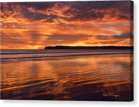Point Loma Fire Canvas Print