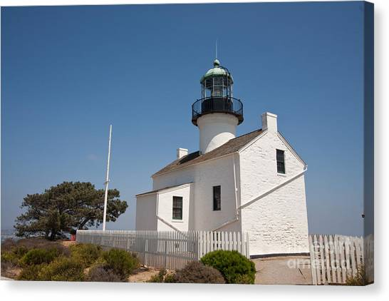Point Loma Lighthouse Canvas Print by Russell Christie