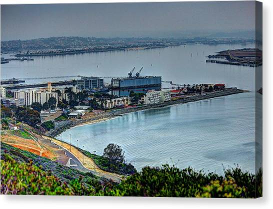 Point Loma Sub Base Canvas Print by Walt Miller