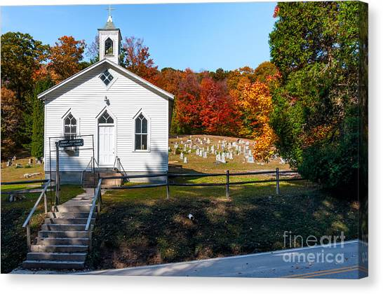 Point Mountain Community Church - Wv Canvas Print