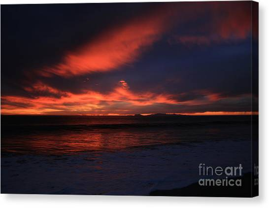 Point Mugu 1-9-10 Just After Sunset Canvas Print