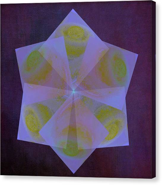 Frank Stella Canvas Print - Point Of Light by Linda Dunn