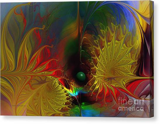 Point Of No Return-abstract Fractal Art Canvas Print