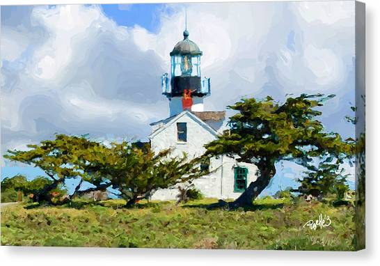 Point Pinos Lighthouse - Pacific Grove Ca Canvas Print