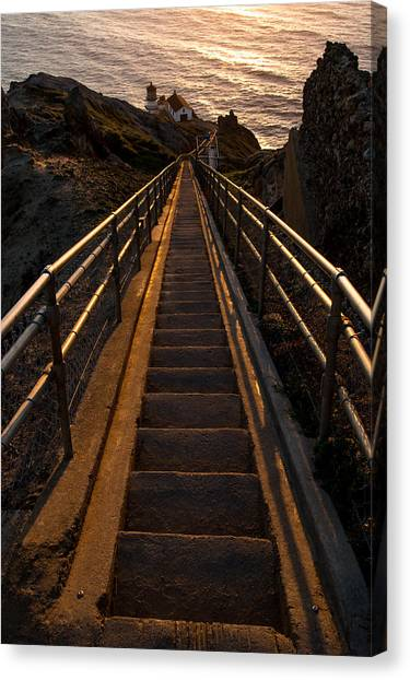 Point Reyes Lighthouse Staircase Canvas Print