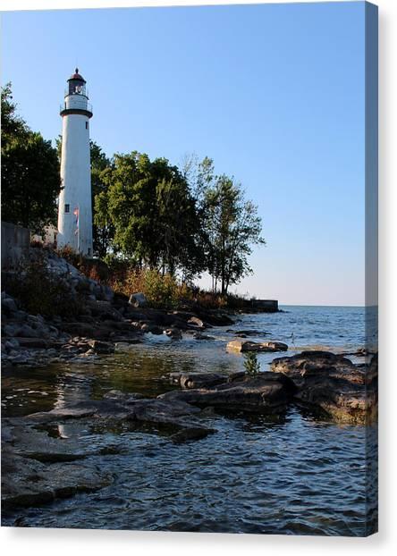 Pointe Aux Barques Lighthouse 1 Canvas Print