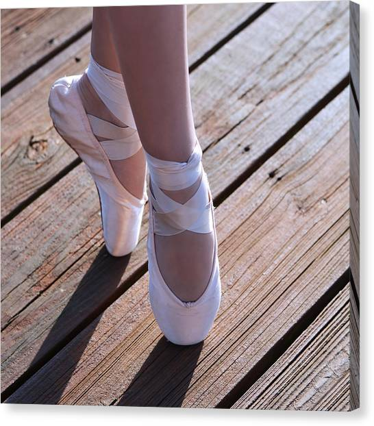 Ballet Canvas Print - Pointe Shoes by Laura Fasulo