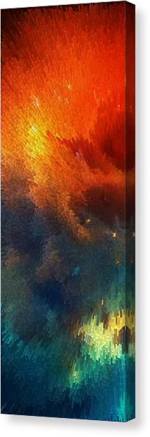 Pointillism Canvas Print - Points Of Light Abstract Art By Sharon Cummings by Sharon Cummings