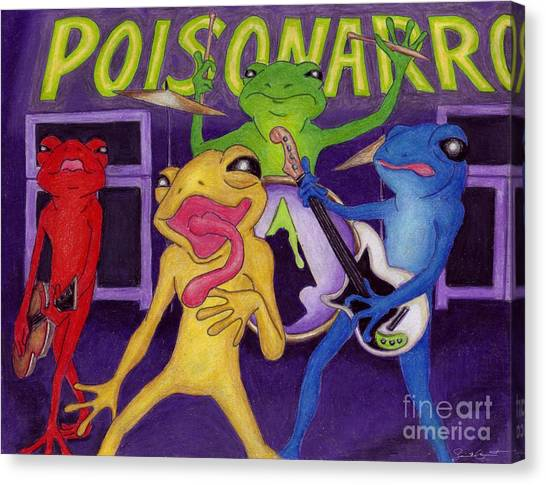 Poison-arrow Frog Band Canvas Print