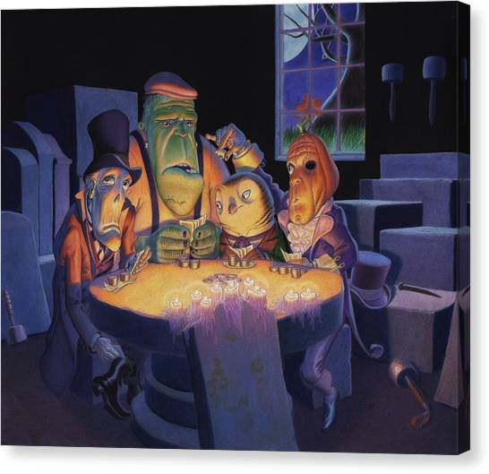 Undertaker Canvas Print - Poker Buddies by Richard Moore