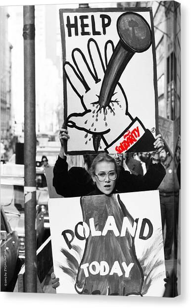 Poland Help Canvas Print by Zygmunt Malinowski