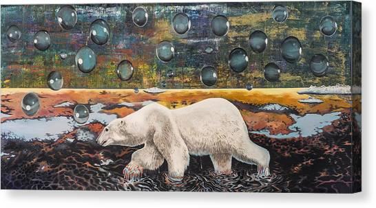 Polar Bear Displacement Replacement Canvas Print