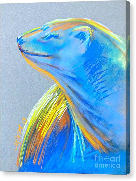 Polar Bear Sun Canvas Print