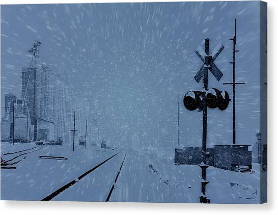 Train Conductor Canvas Print - Polar Express by Dan Sproul