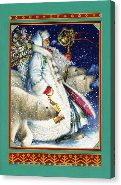 Polar Bears Canvas Print - Polar Magic by Lynn Bywaters