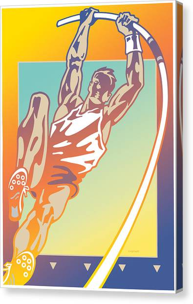 Pole Vault Canvas Print