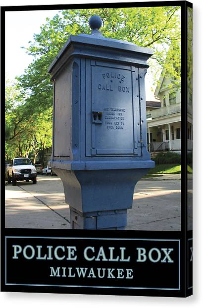 Police Call Box Milwaukee Canvas Print