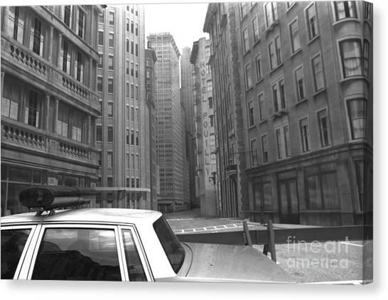 Police Car Canvas Print - Police Car Disney Mgm Studios 1995  by Edward Fielding
