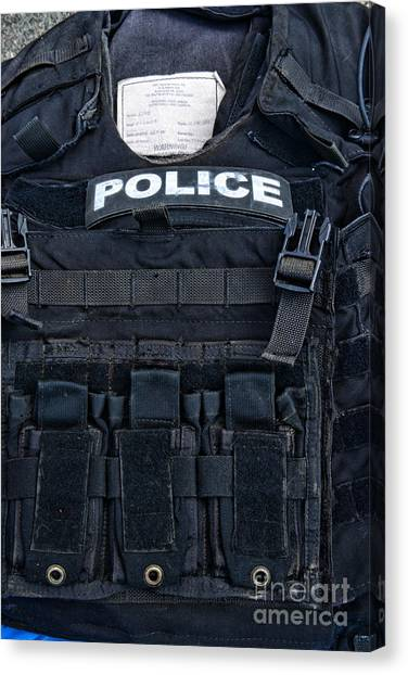 Ward Canvas Print - Police - The Tactical Vest by Paul Ward