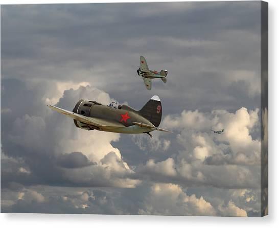 Luftwaffe Canvas Print - Polikarpov I16 by Pat Speirs