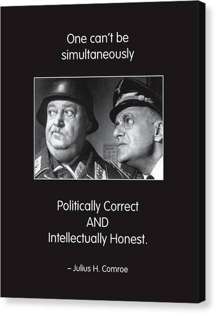Political Correctness Canvas Print by Mike Flynn