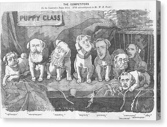 Political Puppy Class Canvas Print
